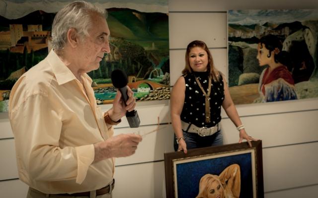 El pintor nos habla de su exposición